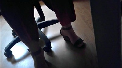 Office, Candid, Office foot, Foot feet