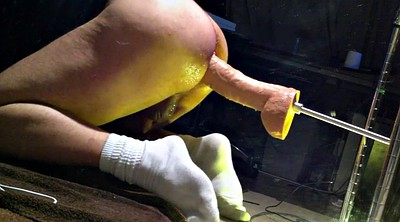 Machine, Huge dildo, Sex machine, Hanging, Hanged, Gay fist