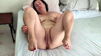White, Mature mom, Granny masturbation, White milf
