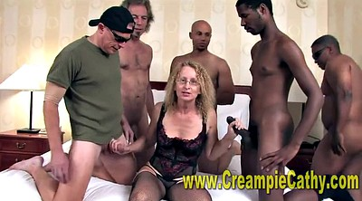 Wife gangbang, Gangbang wife, Interracial creampie, Wife gangbang creampie