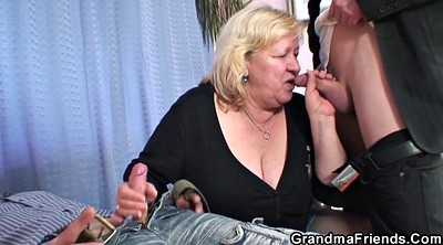 Mature pantyhose, Old threesome
