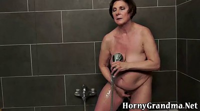Grandma, Mature shower, Showers