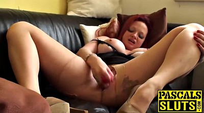 Big tits mom, British, Mom masturbation