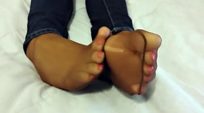 Pantyhose foot, Foot tease, Nylon pantyhose, Footing