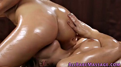 Oiled, Tribbing, Lesbian tribbing, Massages