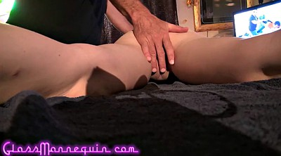 Close up, Teach, Elderly, Small girl, Skinny old, Granny massage