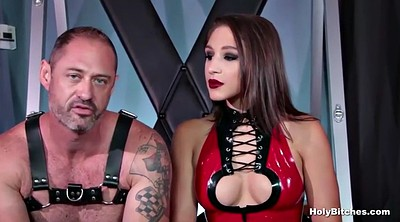 Strapon, Leather, Latex anal, First time anal