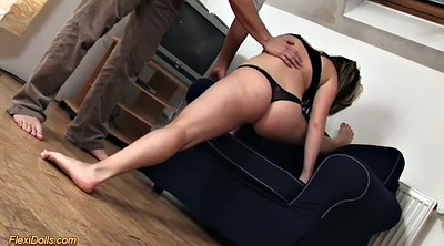 Old and young, Stretching pussy, Chubby orgasm