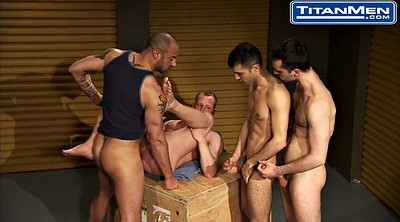Gay gangbang, Muscle, Office sex