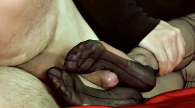 Nylon, Nylon foot, Nylon footjob, Nylon feet, Mature foot, Pantyhose footjob