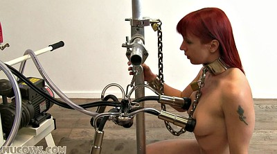 Strangle, Red hair, Big machine, Tortured, Strangling, Tit torture