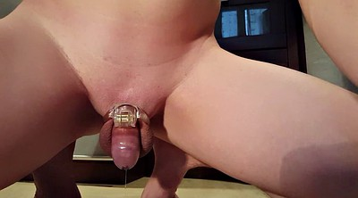 Milking, Chastity, Prostate, Cage
