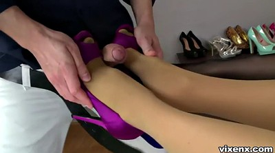 Stockings, Japanese footjob, Stocking footjob, Japanese stocking