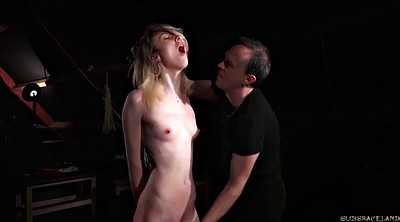 Pain, Painful, Teen slave, Swallowing