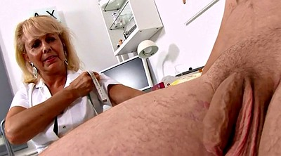 Nurse, Patient, Mature blonde, Erect
