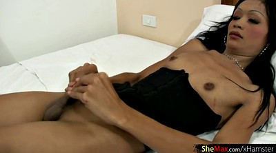 Mature, Thai, Black white, Mature shemale
