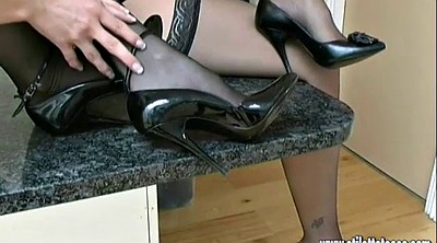 Nylon foot, Shoe, Shoes, High-heeled, Nylon heels, Nylon fetish