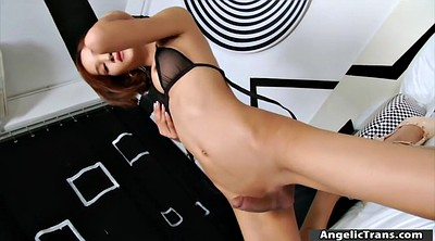Small cock, Asian solo, Asian shemale, Shemale handjob