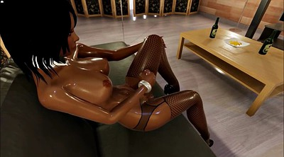 Game, Futanari, Ebony anal