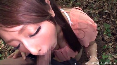 Japanese blowjob, Asian cum, Japanese outdoor, Cum in her mouth