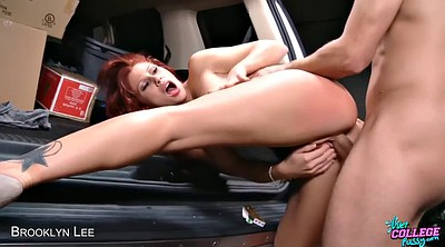 Car, Up skirt, Car creampie