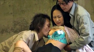 Asian double, Long hair, Japanese double, Japanese blowjob, Woman, Couples