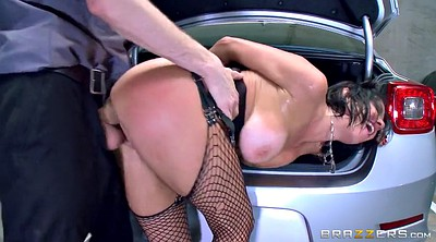 Car, Ass hole, Veronica avluv, Fishnet