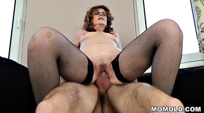 Old, Lady, Old mature, May, Young and old, Black stocking