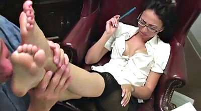 Office, Cum feet, Pantyhose footjob, Foot fetish, Feet cum, Veronica