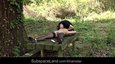 Spanked, Spanking outdoor