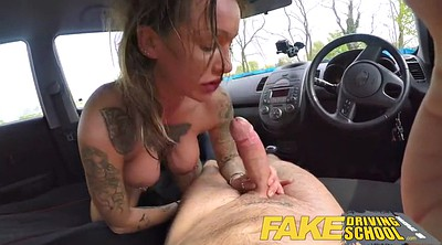 School, Fake, Driving, Fake school, Fake driving school, Car creampie
