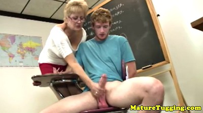 Rock, Mature handjob, Granny blowjob