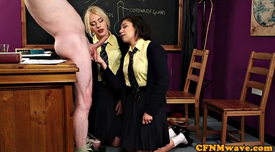 Class, Teacher threesome, Teacher femdom