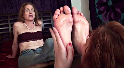 Aunt, Foot worship, Mature feet, Lesbian foot worship, Mature foot