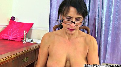 British, Mature nylon, Uk milf, Nylon dildo, Hungry, Granny dildo