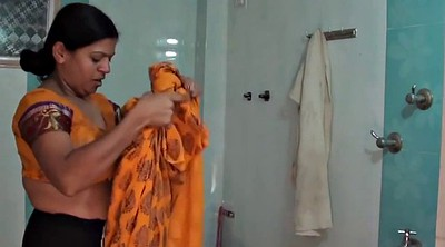 Indian aunty, Dress, Changing room, Change, Aunty, Chang