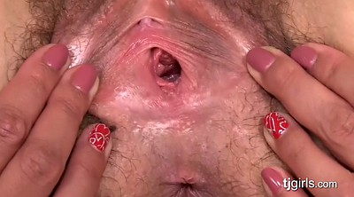 Gaping pussy, Gape, Hairy solo, Solo hairy