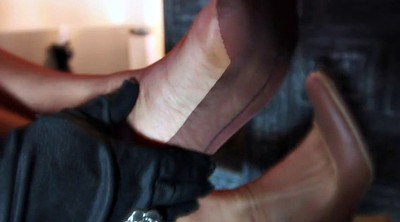 Nylon, Fashion, Big cock handjob, Nylon handjob