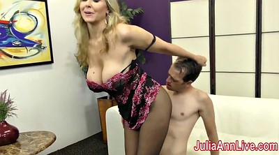 Foot, Julia ann, Foot slave, Slave, Feet slave, Stocking footjob
