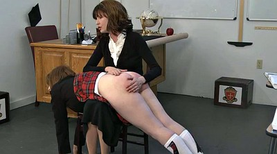 Spanking, Classroom, Ginger