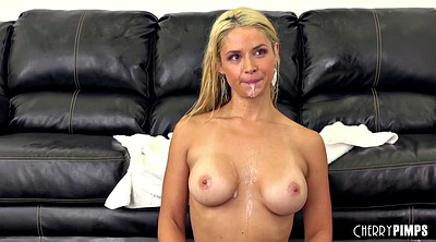 Casting couch, Facials, Hairy blonde, Bouncing tits, Casting hairy, Hairy cock
