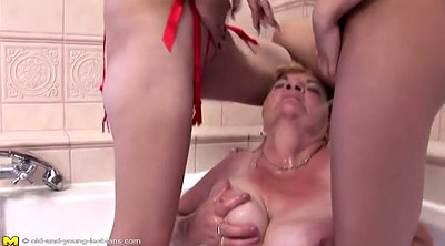 Piss, Mature and young lesbian, Old and young, Hardcore lesbian, Girls pissing