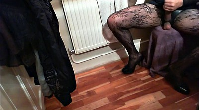 Clothed, Masturbation heels, Jerking off