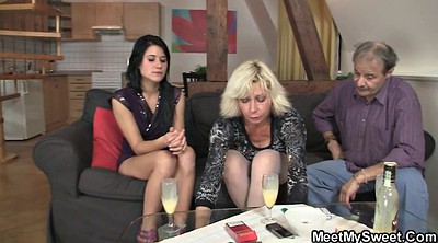 Mom teach, Mom teaches, Mom teaching, Mom mature, Young and old, Threesome licking