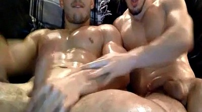 Muscle gay, Masturbation together, Masturbating together, Guy masturbating