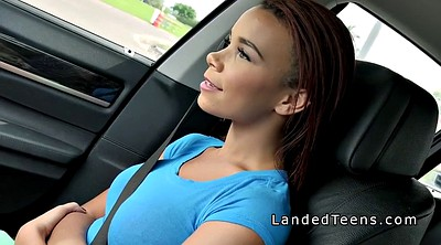 Black teen, In car, Big boob, Hitchhiker, Teen boobs, Teen boob