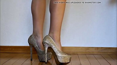 High heels, Challenge, Romanian, Jerk off challenge, Jerk challenge, High heels masturbation