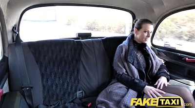 Fake tits, Czech taxi