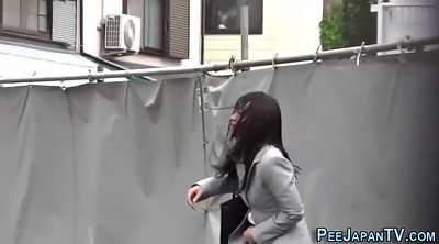 Japanese public, Lady, Japanese outdoor, Japanese pee