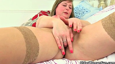 Mum, British mature, Mature hairy